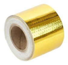 "Torque Solution Gold Reflective Thermal Heat Tape Fits Universal 2"" x 15'"