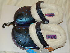 NEW CROCS MAMMOTH SHOES CLOGS GIRLS 10/11 IRIDESCENT BLUE NR BIN SEE PICS