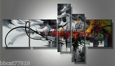 5PIECES MODERN ABSTRACT HUGE WALL ART OIL PAINTING ON CANVAS No FRAME