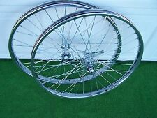 PAIR 26 x 2.125 BICYCLE  STEEL WHEELS  HEAVY DUTY COASTER BRAKE REAR CP 36 12ga