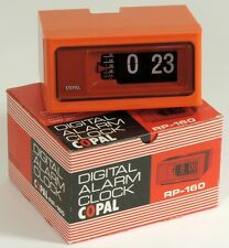 Digital Alarm Clock COPAL RP-160 with Neon Lamp. Reloj Made in Japan Años 60