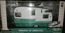 VW Van Airflyte Trailer 15 foot Diecast 1:24 Greenlight 7 inch Green White