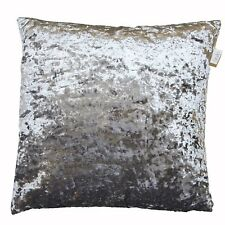"LARGE 24"" SHIMMERY STEEL GREY CRUSHED VELVET CUSHION COVER £9.99 FREE POSTAGE"