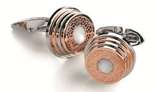 "MONTEGRAPPA - ""STAIRWAY"", PVD Rose Gold S.S White Crystal Cufflinks IDSPCLRP"