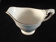 Creamer Crown Pottery Company Pattern 349 Grey and White with Gold