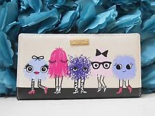 NWT Kate Spade Imagination Monster Party Stacy Bifold Wallet  New $100