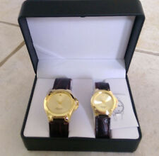 Antonino Gold And Brown Watch His And Her Set w/case