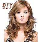 """Women Lady Heat 16"""" Long Sexy Brown Curly Wavy Cosplay Party Full Hair Wig"""