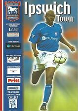 Football Programme - Ipswich Town v Chelsea - Premiership - 1/4/2002