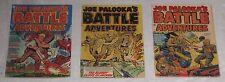 3 Golden Age JOE PALOOKA'S BATTLE ADVENTURES #s 69, 71, 73 VIOLENT pre-code WAR!