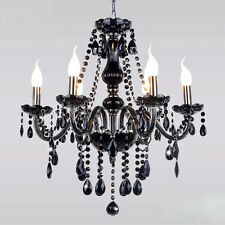 Loft European Black Crystal Chandelier Lighting Ceiling Light Pendant Lamp