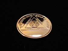 24K Gold Plated Alcoholics Anonymous AA NEW 10-Year Medallion Token Coin Chip