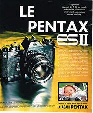 PUBLICITE ADVERTISING  1974   ASAHI PENTAX   appareil photo ES 2