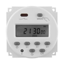DC 12V 16A LCD Digital Display Power Programmable Timer Switch for Light