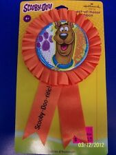 RARE Here Comes Scooby-Doo Cartoon Dog Birthday Party Favor Guest Honor Ribbon
