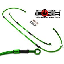 Core Moto MX Rear Brake Line Kit (Kawasaki Green) For: KX125 (99-02) / KX250 (99