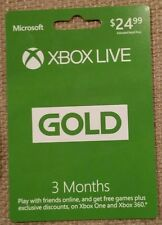 Microsoft 3 Month Xbox Live Gold Membership Subscription (Physical Copy)
