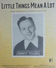 Vintage JIMMY YOUNG Little Things Mean A Lot Lindeman Stutz MUSIC SHEET 1954