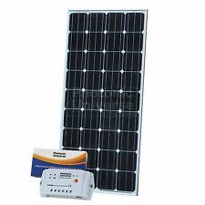 150W 12V solar charging kit with 10A controller 5m cable for camper caravan boat
