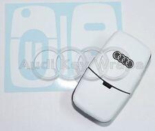 White Matte Key Wrap Cover Overlay Audi Remote A1 A2 A3 A4 A5 A6 A8 TT