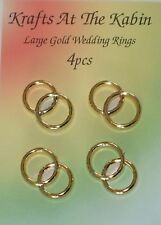 4 Double Gold Wedding Ring Embellishments for cards and crafts