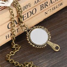 New Coming Alloy Women Vintage Wonderful Bronze Charm Mirror Pendant Necklace