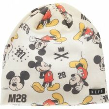 Neff Mens Mickey Mouse Never Grow Up Beanie 13HD00NG, White, One Size