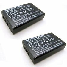 2x 3.7v 1800mAh Battery for DB-43 Ricoh Caplio 500G wide 500SE G4 wide Pro G3
