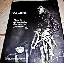 Sammy Lee Jr. B/W Rodeo poster by EdMcCombs for Navajo Community College 20x16