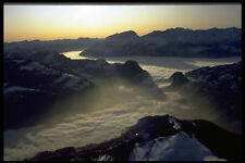 603092 A Large Fog Bank Over Upper Rhine Valley Switzerland A4 Photo Print
