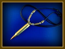"Large 2-1/4"" BULLET Jewelry PENDANT NECKLACE - Steampunk! REAL BULLET!"