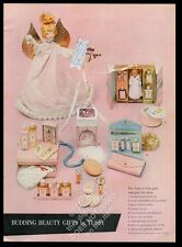 1957 Tussy girls doll & beauty products Xmas gift set pix vintage print ad