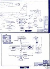 Piper L-21 Super Cub PA-18 BLUEPRINT PLAN DRAWINGS 1940's Historic Archive