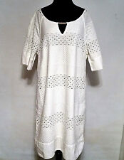 NWOT ADRIANNA PAPELL WHITE COTTON EYELET CUT OUT DETAILS Size XL