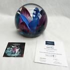 Caithness Limited Ed. Paperweight - Floral - Ruby Blue - No. 19/100 - BNIB