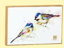 CHICKADEES PEAS IN A POD PRINT ON CANVAS WALL ART BY DEAN CROUSER FREE U.S. SHIP