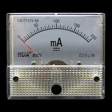 DC 200mA Analog Panel AMP Current Meter Ammeter Gauge 85C1 0-200mA DC White