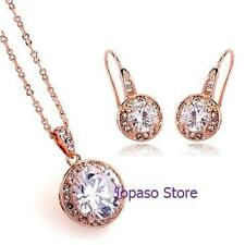 18K Gold Plated Cubic Zirconia Crystal Swarovski Element Wedding Jewellery Set