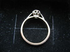 VINTAGE 9ct YELLOW GOLD PLATINUM & DIAMOND ENGAGEMENT RING 1.8  Grams SIZE K
