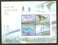 India 2007 Landmark Gandhi Bridges Phila-2421 M/s MNH