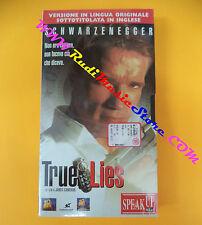 film VHS TRUE LIES Arnold Schwarzenegger sigillata SPEAK UP (F107) no dvd