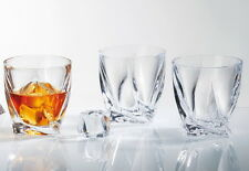 Luxury Crystal Glasses | Spirits Curve Tumblers 340ml | Set of 4 Gift Boxed