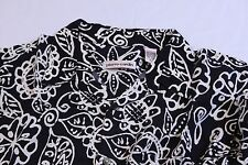 Pierre Cardin Men's L Hawaiian Style Shirt Dark Blue Silky Rayon