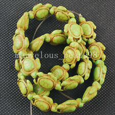 New Fashion Olive Green Howlet Turquoise Turtle Spacers Loose Beads G6323