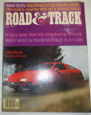 Road & Track Magazine F1 Tires & Volvo 760GLE July 1982 022715r