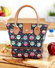 The Lakeside Collection Dual Compartment Insulated Lunch Tote - Owl