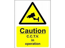 Security Camera - CCTV Warning Sign A4 Inside / outside use. Will not fade!