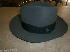 "STETSON ""Temple"" Sovereign STETSON Caribou COLOR SIZE 7 FEDORA !"