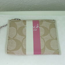 NWT COACH CHELSEA MINI SKINNY PURSE F43552 LIGHT KHAKI/PINK