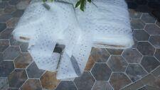 10m vintage de estilo blanco de encaje de algodón con detalles de Plata Cinta de Costura 5cm Crafts
